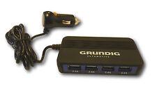 PKW KFZ 4-fach USB Hub Verteiler Ladegerät Lader 12/24 V 4 x 2,4 A Schnelllader