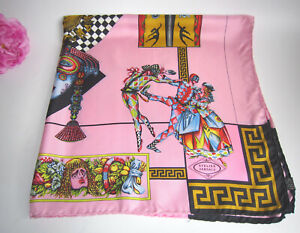 Versace designer pure silk square scarf. Fabulous. Rare.