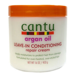 [CANTU] ARGAN OIL LEAVE-IN CONDITIONING REPAIR CREAM DEEP HAIR TREATMENT 16OZ