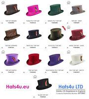 Top Hat High Quality Navy Black Brown Burgundy Olive White Purple 100% Wool Felt