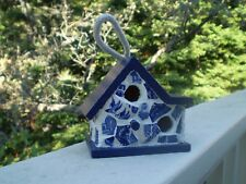 Blue Willow Hand-Crafted Mosaic Birdhouse