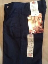 NWT Dickies Boys Shorts Size 8RG Pleated Front Navy Blue