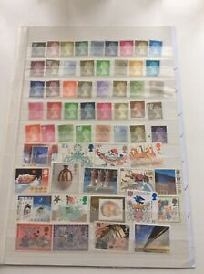 GB QE11 LOWER VALUE STAMPS  NO GUM UNFRANKED OFF PAPER  AS PICTURES