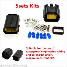 5sets Kits 4pin way Super Sealed waterproof electric wire connector plug for car