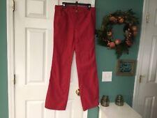 WOMEN'S TORY BURCH Wide Leg Red Jeans Pants Size 31 (CON13)