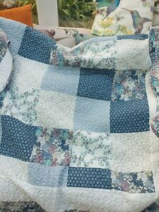 Single Pretty Patchwork Bedspread With Pillow 66x90inch