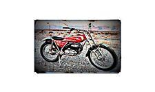 1975 Bultaco T350 159 Bike Motorcycle A4 Retro Metal Sign Aluminium