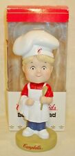 """2002 CAMBELL SOUP KIDS ADVERTISING 6 1/2"""" BOBBLEHEAD BLONDE BOY CHEF DOLL MIB"""