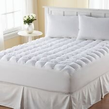 Pillow Top Mattress Topper King Size Pad Cover Protector Cotton Bedding Bedroom