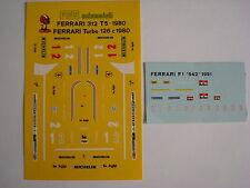 F1 DECALS KIT FERRARI 126 C TURBO 1980 GP ITALIA FDS AUTOMODELLI DECAL