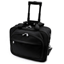 G. Pacific 17in Embassy Plus Black Rolling Upright Laptop Computer Bag Briefcase