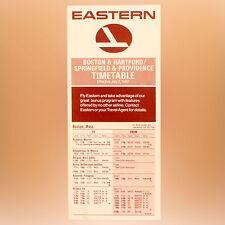 Orientale Airlines - Emploi Du Temps - Boston - Juillet 2, 1982