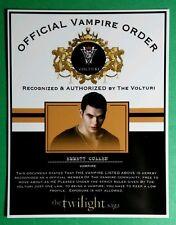 TWILIGHT OFFICIAL VAMPIRE ORDER BY VOLTURI EMMETT CULLEN KELLAN LUTZ CARD