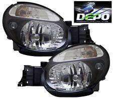 2002-2003 Subaru Impreza WRX Black Head Lights OE Style DEPO