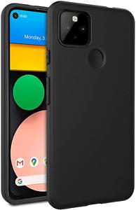 Black Case For Google Pixel 4A 5G Shockproof Silicone Soft Gel Rubber Bumper