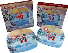 Glass Christmas Table Plates
