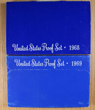 1968 1969 - Us Mint Proof Sets - 40% Silver & Clad Coins - 5 Coin Sets in Ogp