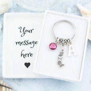 Mermaid Keyring, Personalised Gift, Swimming Keychain, Children's Bag Charm
