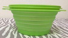 tupperware flat out schüssel collapsable w deckel lime grün neu 3 tassen
