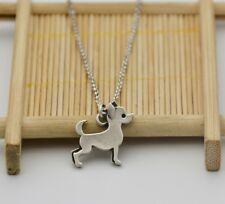 Small Chihuahua Dog Canine Collection Silver Tone Fashion Pendant Necklace