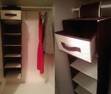 6 Shelf & Drawer / Hanging Wardrobe Section Shoe Organiser Clothes Storage TIDY