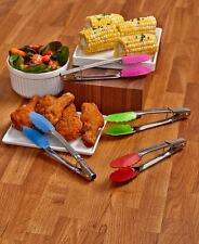 Set Of 4 Mini Silicone Tongs Cooking Utensils Kitchen Serving Food Tools