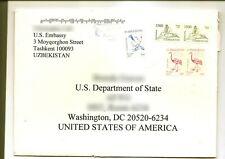 UZBEKISTAN - Cover from US Embassy Tashkent to U.S. State Department 2019
