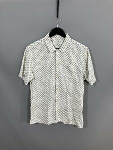 ALLSAINTS LINEN BLEND Shirt - Size Medium - White - Great Condition - Men's