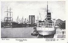 Yorkshire Postcard - Old Hull - Victoria Docks c1910 - Pamlin Prints  2290