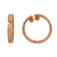 Bvlgari B.zero1 Pink Fold Hoop Earrings 345504