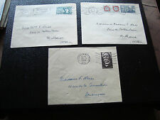 FRANCE - 3 enveloppes 1951/1952 (dos 2eme choix) (cy50) french