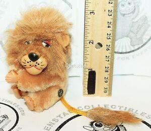 "DAKIN CLIP-ON HUGGER PLUSH LION CLASP TOY PLUSH 3"" VINTAGE 1970/80s FIGURE NEW"