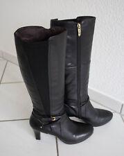 a50588ffd8d239 Tamaris Stiefel Gr. 39 schwarz Leder mit Reißverschluss Stadtstiefel  Langschaft