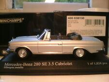 VERY RARE MINICHAMPS 1/43 1970 MERCEDES-BENZ 280 SE CABRIOLET (W111) SUPERB NLA
