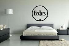 THE Beatles Tamburo MUSICA POP Wall Art Vinile Decalcomania Adesivo Rimovibile ufficiose
