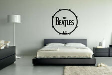 The Beatles Drum Pop Music Wall Art Vinyl Decal Sticker Removable Unofficial