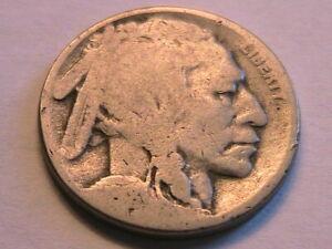 1918-S Buffalo Nickel Good (G) Original Grey Tone Indian Head 5 Cent USA Coin
