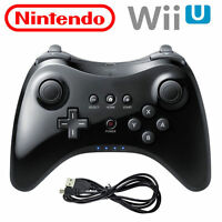 NEW Black U Pro Bluetooth Wireless Gamepad Joypad Controller for Nintendo Wii U