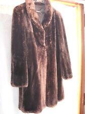PELLICCIA VERO CASTORO marrone scuro Modello 3/4 Vintage Ottimo stato