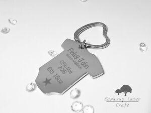 Personalised Engraved Baby Key Ring, New Mum Gift, Mummy Keyring Gift Christmas