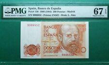 1980 SPAIN 200 PESETAS -MADRID PMG67 EPQ SUPERB GEM UNC <P-156>