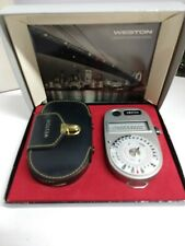 Vintage Weston Ranger 9 Universal Exposure Meter Model 348 Case Box Manual Inclu