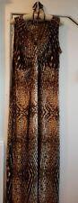 KLASS Leopard Print Stretch Halter Detail Maxi Dress (18) BN