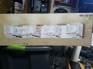 Home Decorators Tulianne 4 Light Chrome LED Bath Light Clear Cube Glass