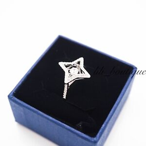 NIB Swarovski 5349666 Sparkling Dance Ring Crystal Clear White Rhodium Size 55