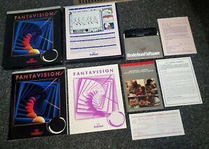 Apple II IIe IIc IIgs - FANTAVISION - Broderbund - Complete In Box - CIB