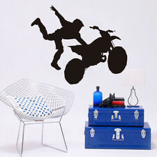 Extreme Sports Motorcycle Acrobatic Performance Silhouette Wall Sticker
