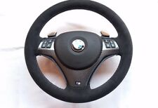 BMW E87 E90 M3 X1 Steering Wheel Alcantara + Carbon Fiber + F1 Shift Paddles