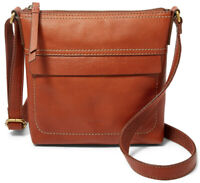 NWT Fossil Sydney Brown Leather Backpack Crossbody Satchel SHB2125213 $168 MSRP