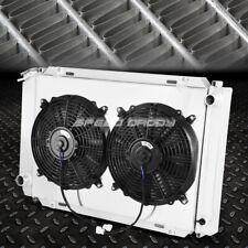 For 79-93 Mustang Fox 3-Row Aluminum Core Radiator+Cooling Black Fans+Shroud